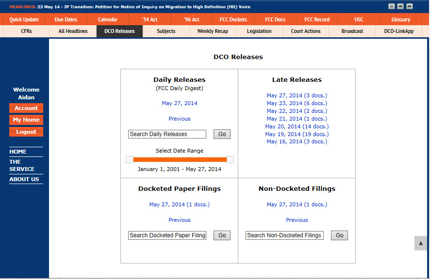 DCO Releases